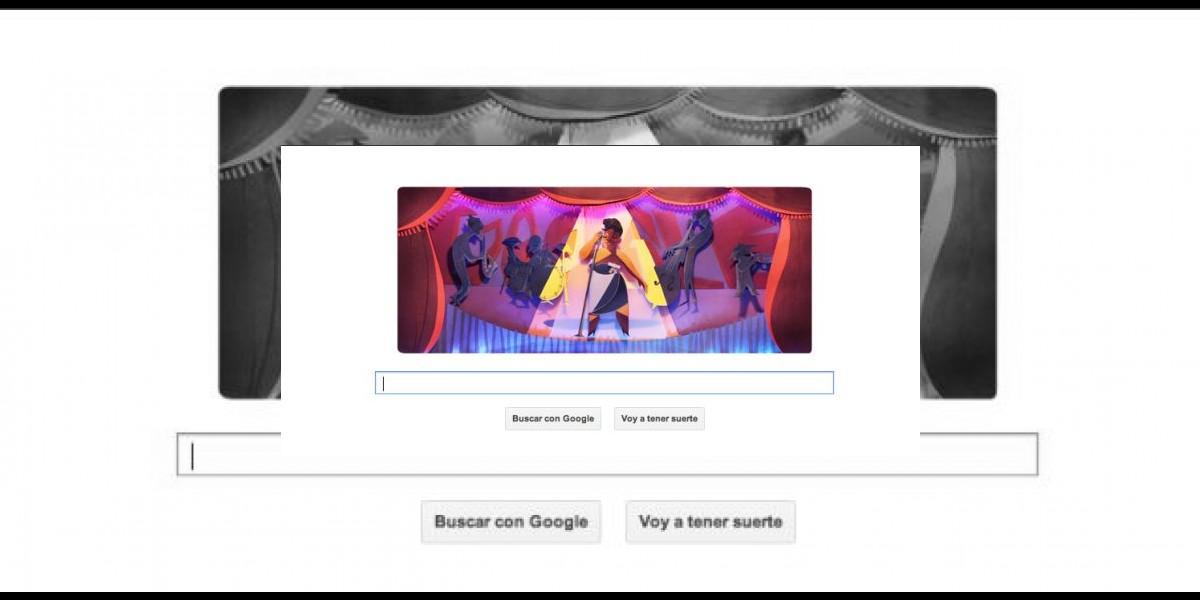 Google dedica su doodle a Ella Fitzgerald: