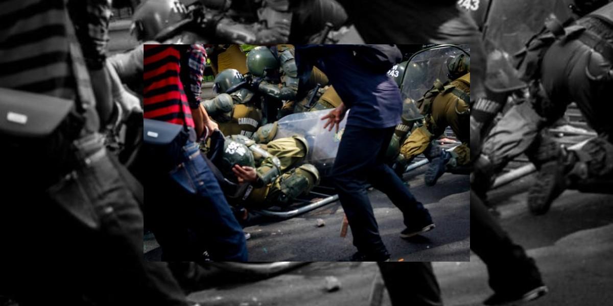 Seis policías heridos y 60 detenidos es el balance preliminar de incidentes en marcha de la CUT