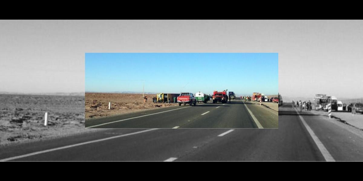 Volcamiento de bus deja 35 heridos en el norte