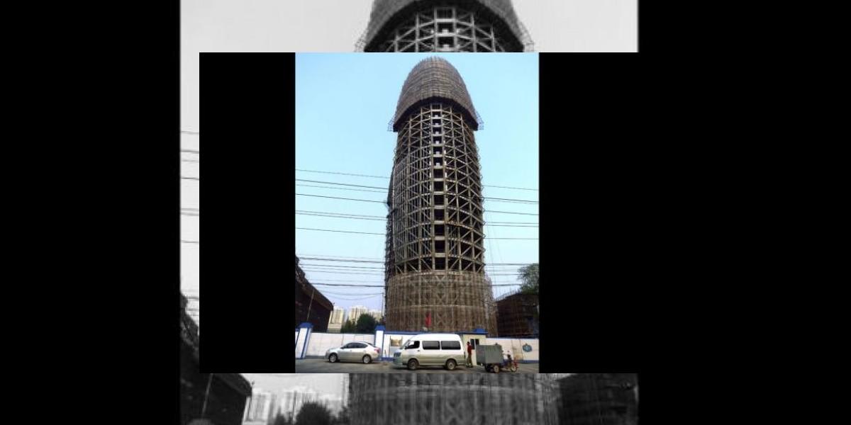 Nuevo edificio con aspecto fálico en China desata la burla en redes sociales