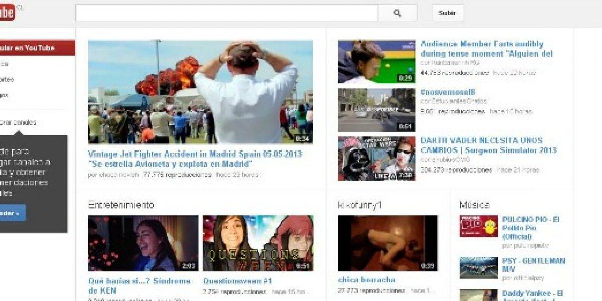 YouTube cobraría para tener acceso a 50 canales del sitio