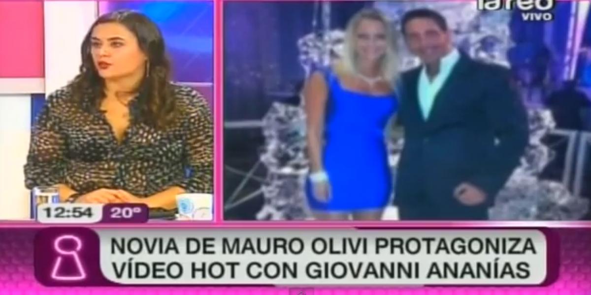 Se filtra video hot de la novia de Mauro Olivi con Giovanni Ananías