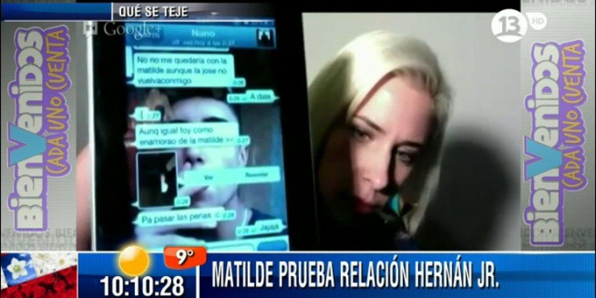 Matilde Bonasera se enfrenta a Hugo Valencia por polémica con Hernán Calderón Jr.