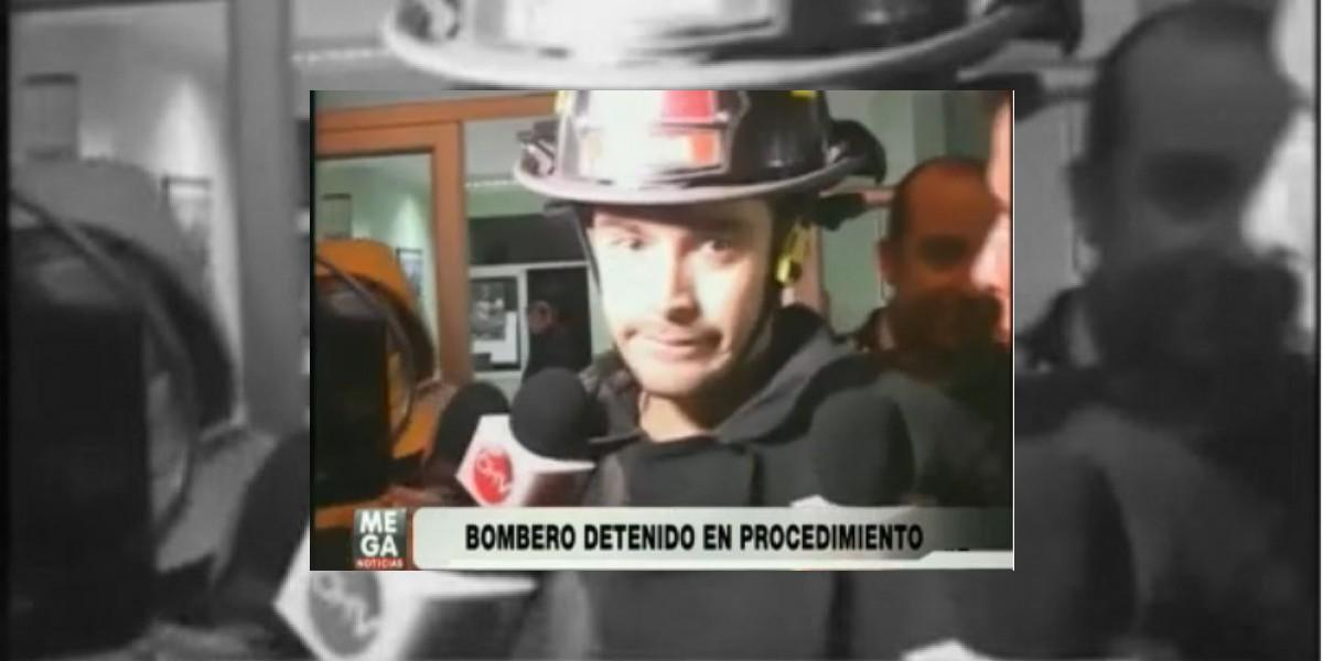Bombero es detenido en medio de una emergencia en Talca