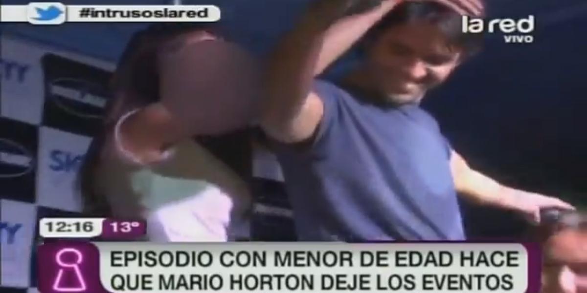 Mario Horton deja los eventos discotequeros por episodio con menor de edad