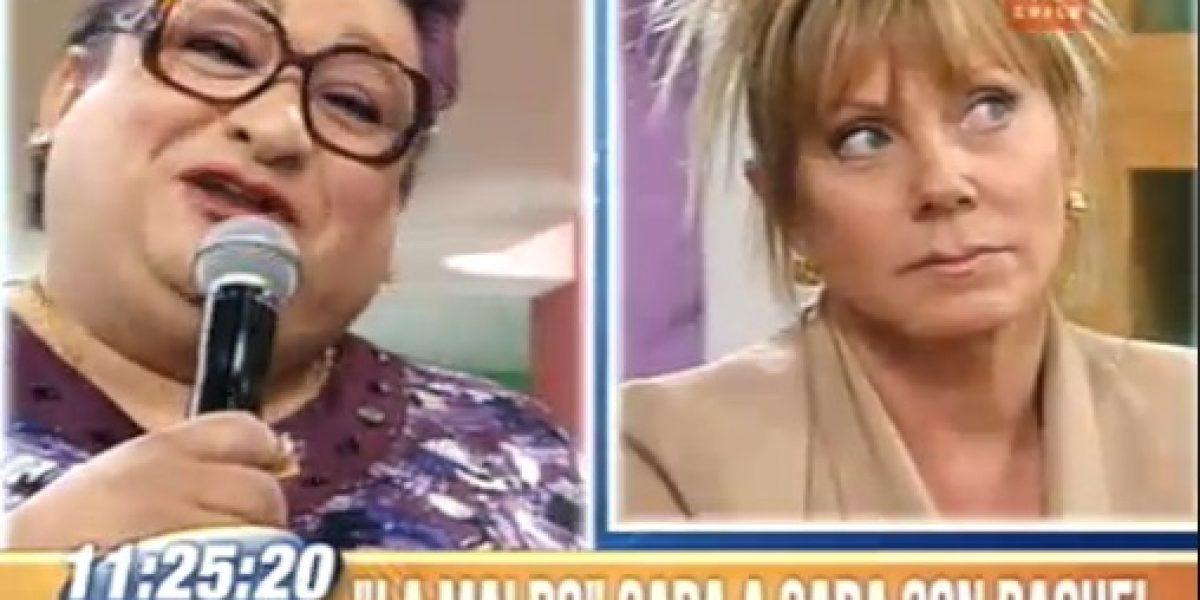 Raquel Argandoña molesta por imitación de Paty Maldonado en BDAT