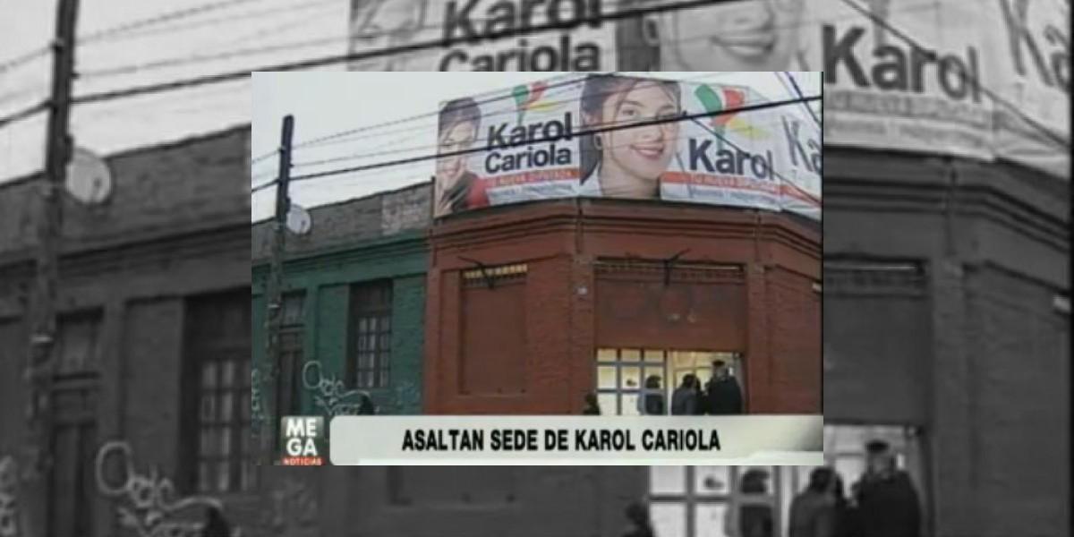 Asaltan dos veces en menos de 24 horas la sede de la candidata Karol Cariola