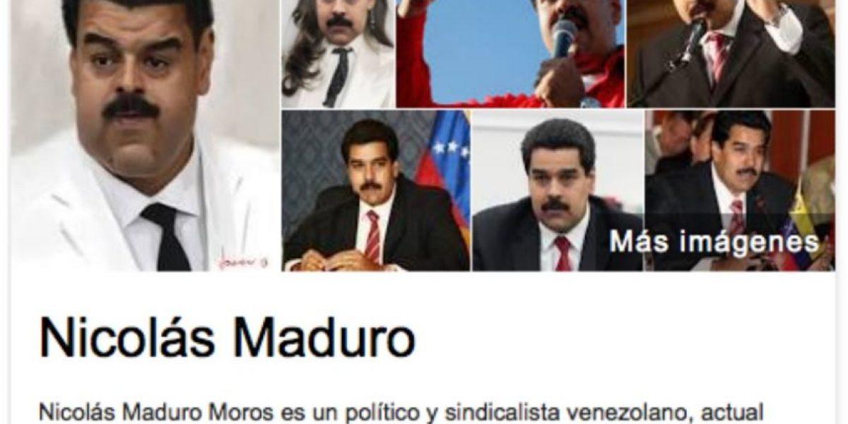Maduro se queja contra Google y dice que lo ridiculiza con estas fotos