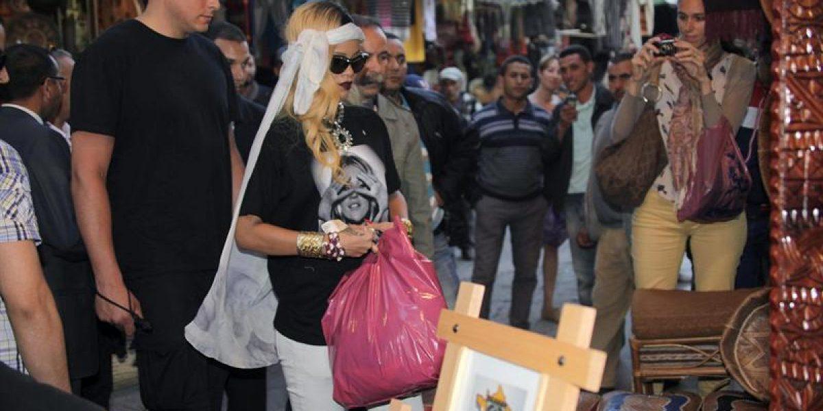 Rihanna revolucionó Marruecos con visita al mercado