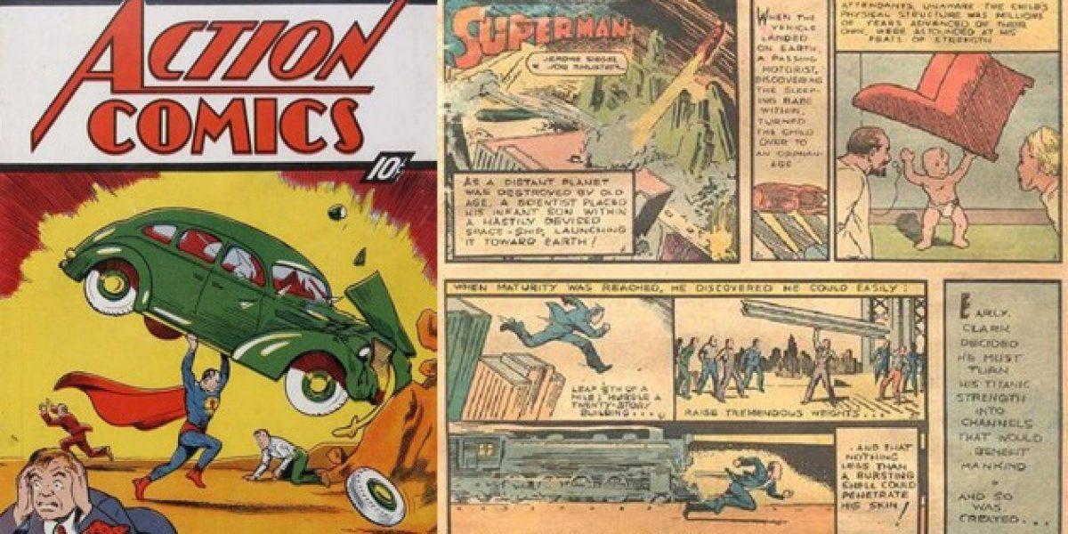 Hombre encuentra entre las paredes de su casa histórico comic de Superman