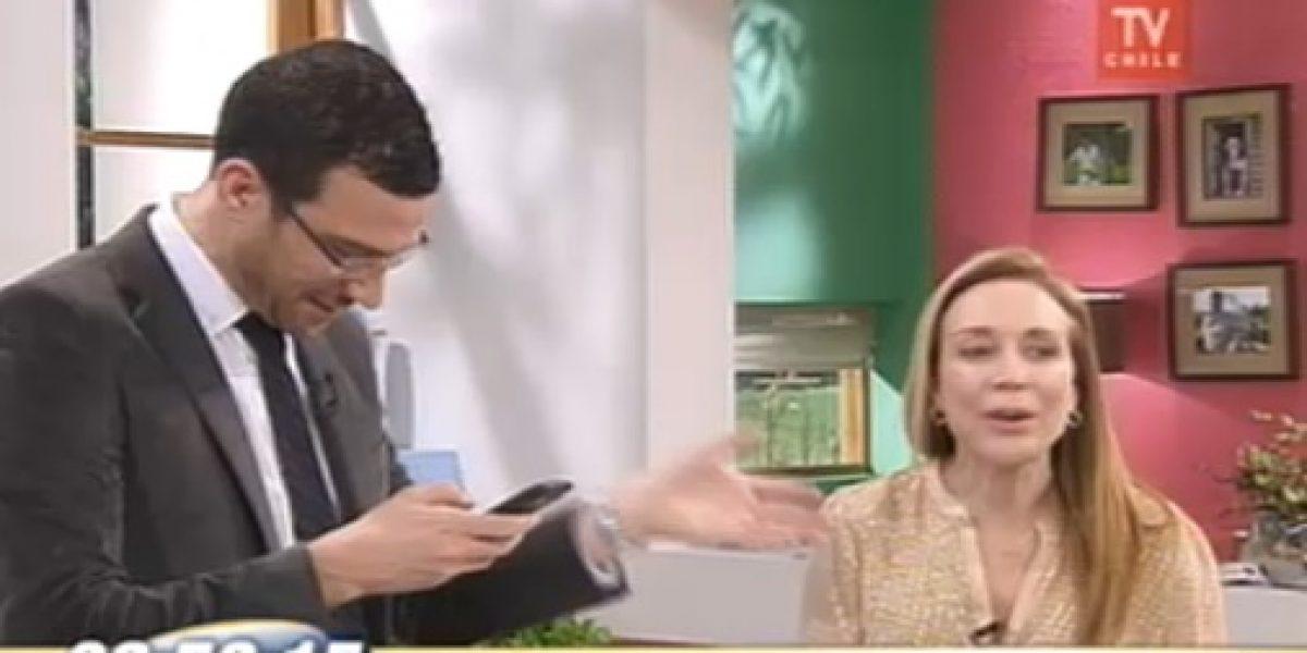 Julián Elfenbein se entera en vivo que su esposa está a punto de dar a luz