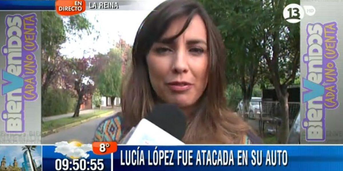 Lucía López sufre ataque contra su auto en un semáforo