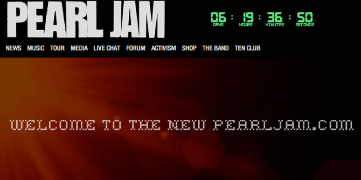 Pearl Jam comienza cuenta regresiva de un gran anuncio