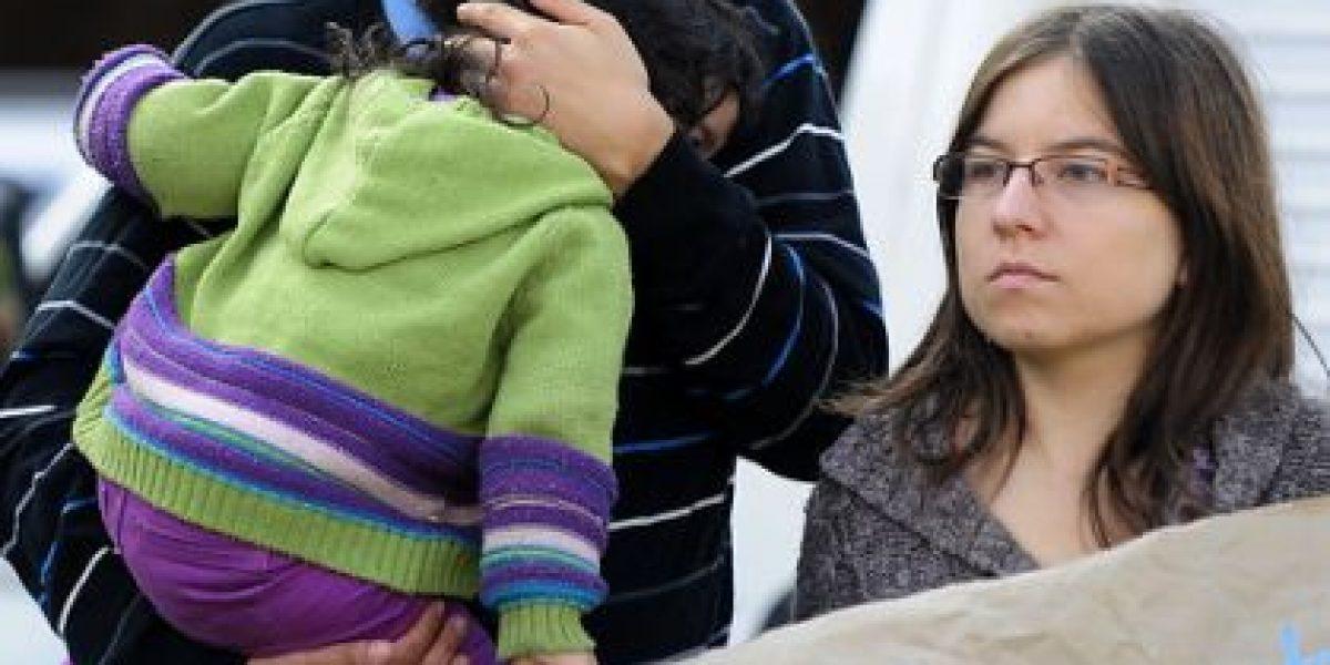 [FOTOS] Emotiva manifestación de padres en apoyo al carabinero José Luis Paredes
