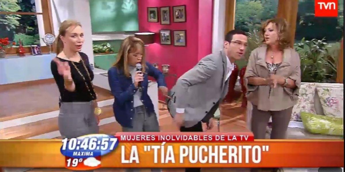 Julián y Karen cantaron con la Tía Pucheritos en el BDAT