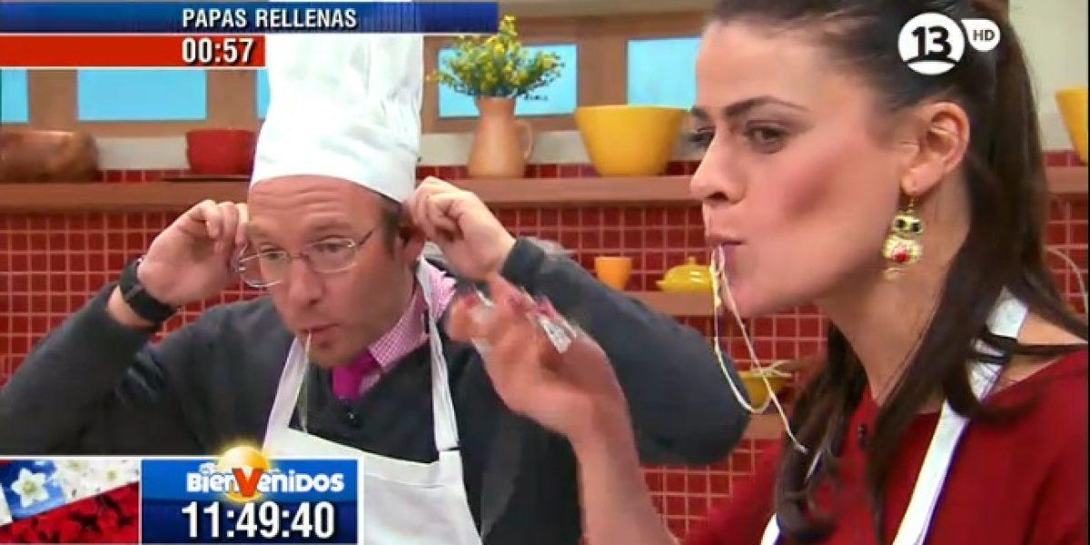 Tonka y Martín disfrutaron con la cocina en