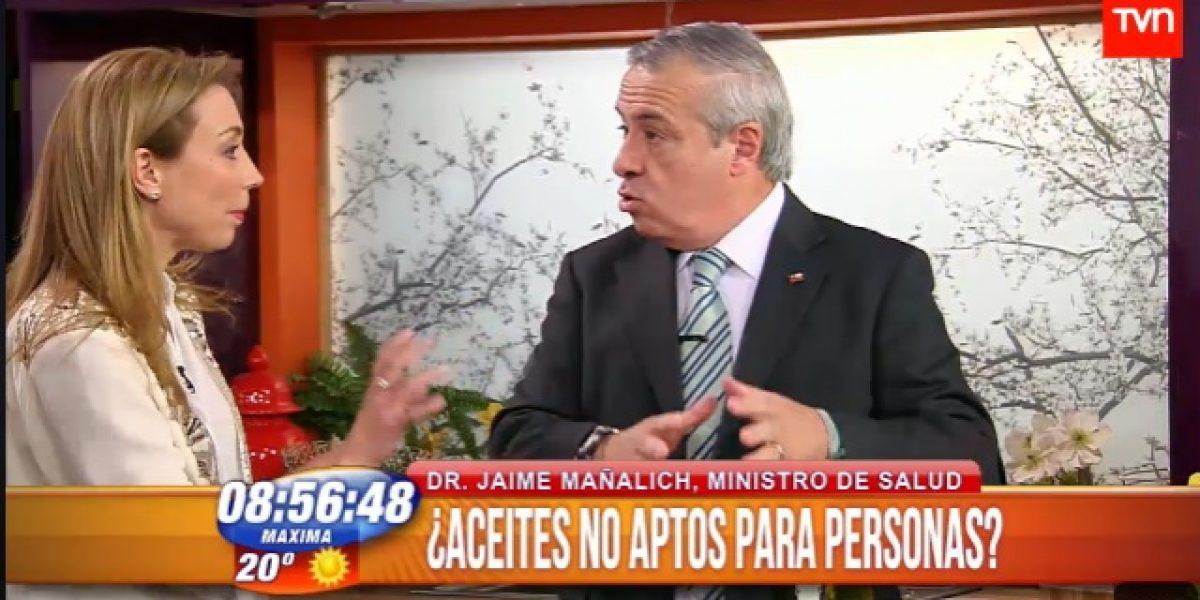 La discusión de Mauricio Bustamante y ministro Mañalich por reportaje de Contacto