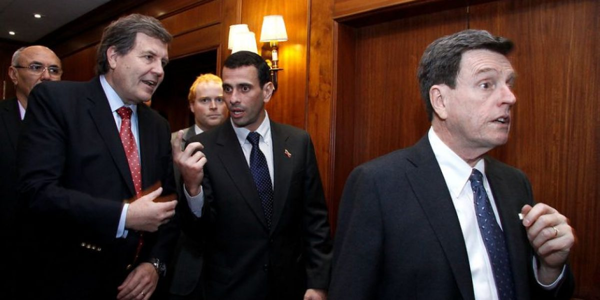 [FOTOS] Altos personeros de la UDI y RN recibieron a Henrique Capriles