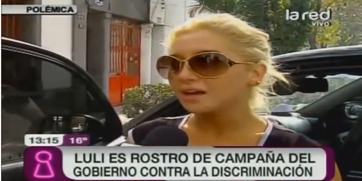 Luli es rostro de campaña del gobierno contra la discriminación