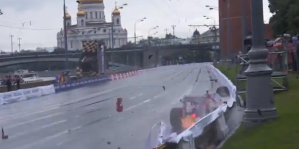 Accidentada exhibición de F1 en Moscú