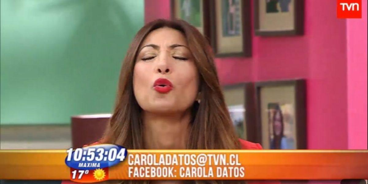 Carola Jorquera envía besos a misterioso hombre en BDAT