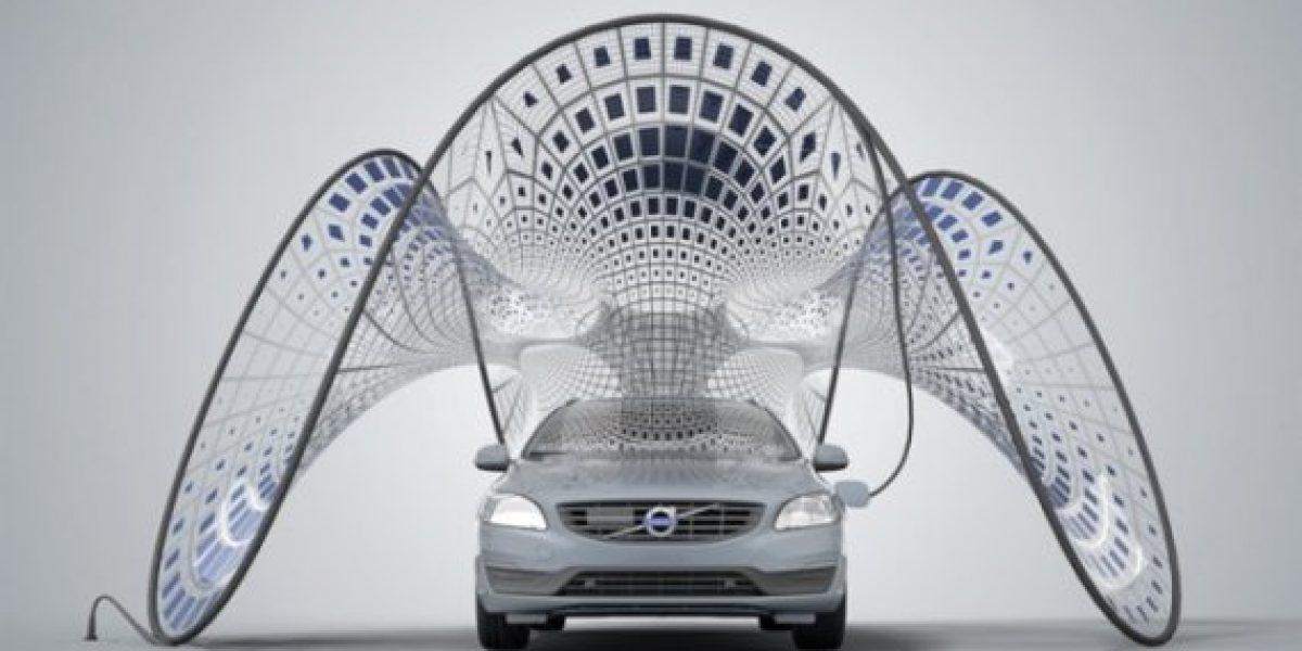 El cargador solar para automóviles eléctricos plegable