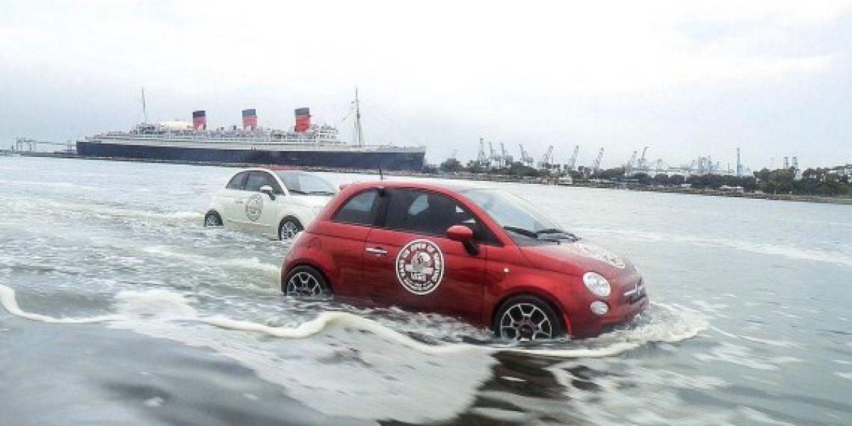 FOTOS:¿Tres Fiat 500 nadando?