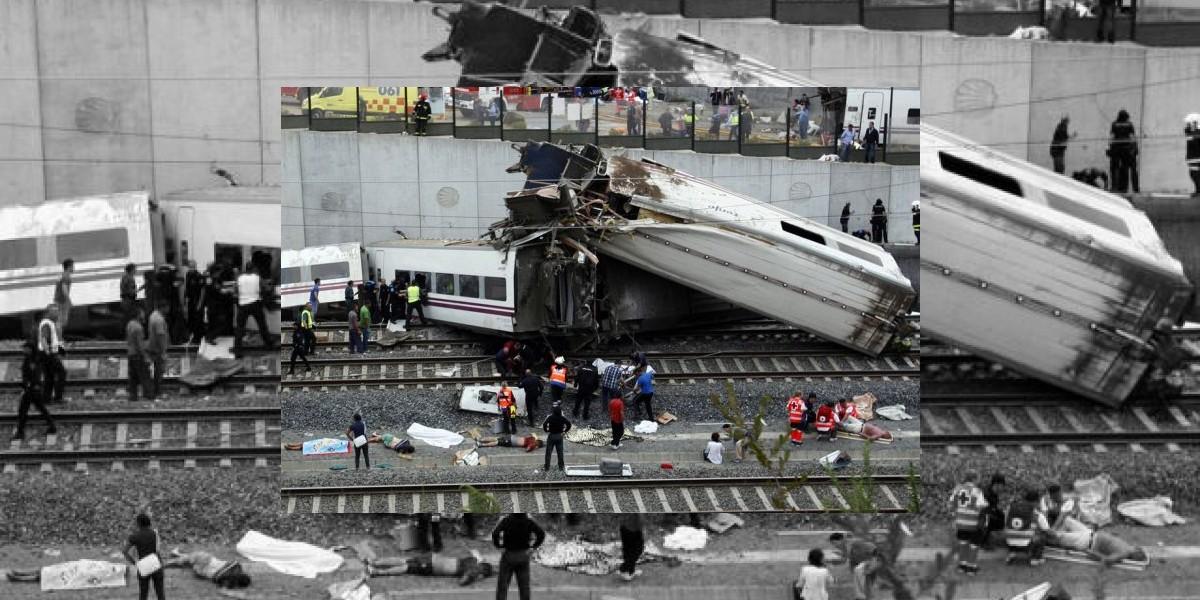 Cámaras captan el momento exacto del trágico accidente ferroviario en España