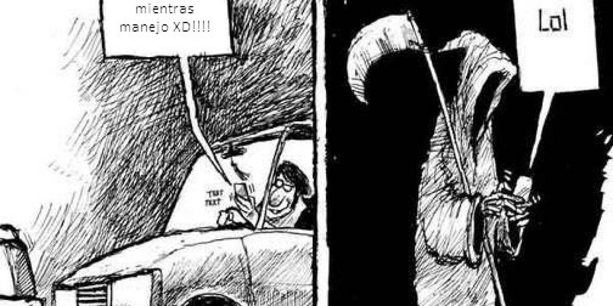 el 83 los santiaguinos revisa su correo mientras conduce