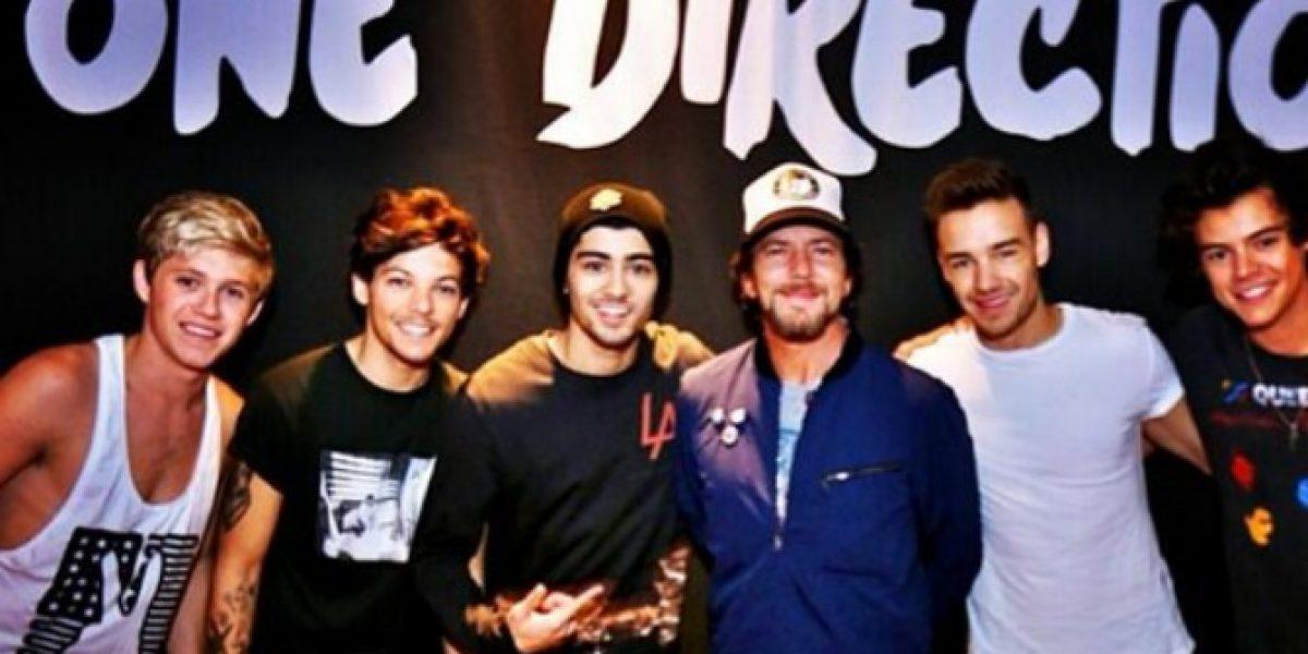 Eddie Vedder sorprende tras difundirse foto con One Direction
