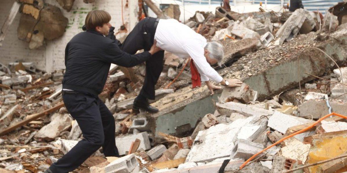 FOTOS: Presidente Piñera sufre feroz caída en Puente Alto