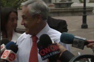 Presidente Piñera se refiere a su caída en Puente Alto Foto:TVN. Imagen Por: