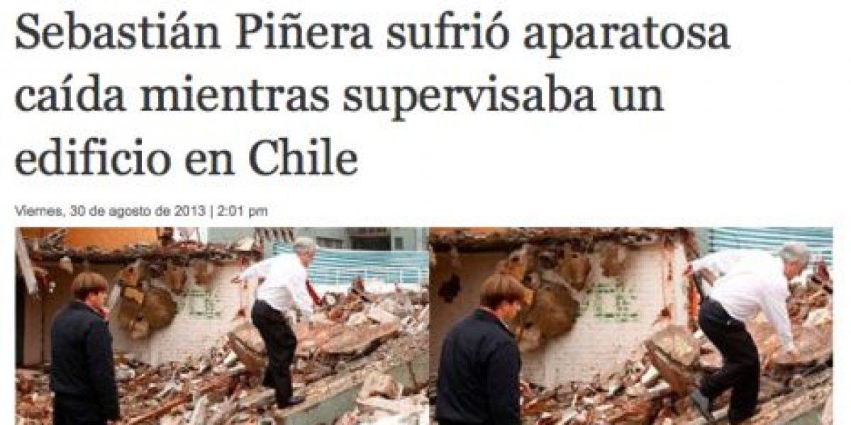 [Galería] Prensa internacional cubre caída de Piñera