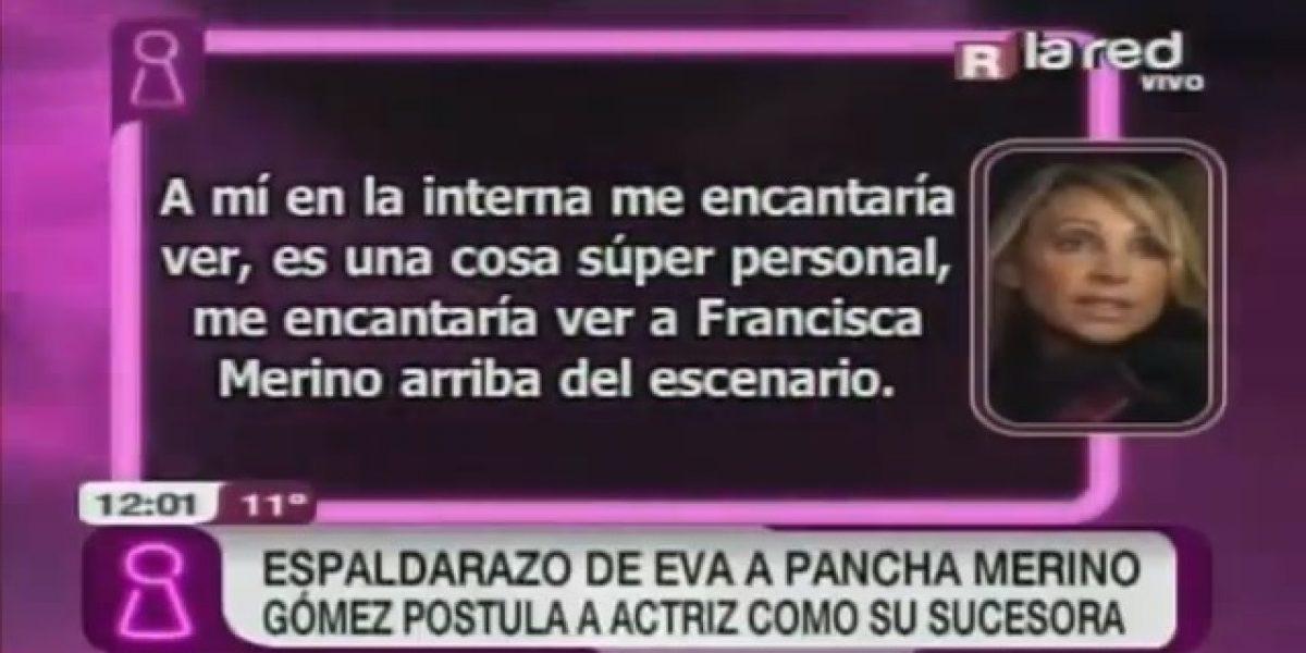 Eva Gómez postula a Pancha Merino como su sucesora en en el Festival de Viña