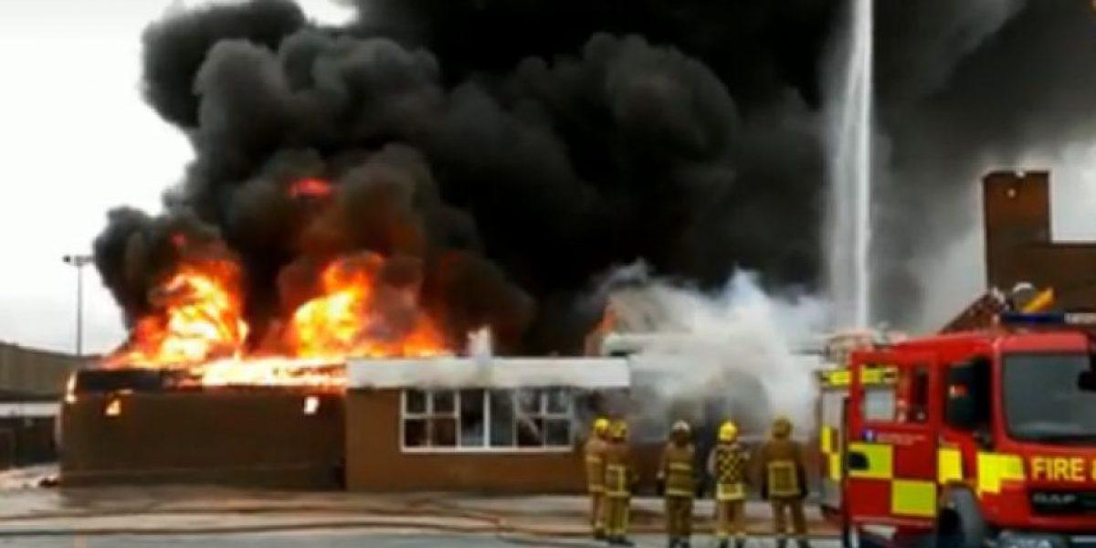 FOTOS: Detienen a 5 niños acusados de incendiar un centro educacional