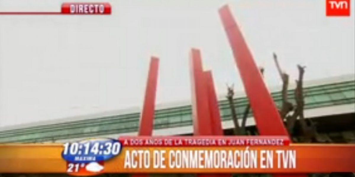TVN conmemora con acto en el frontis del canal la tragedia de Juan Fernández