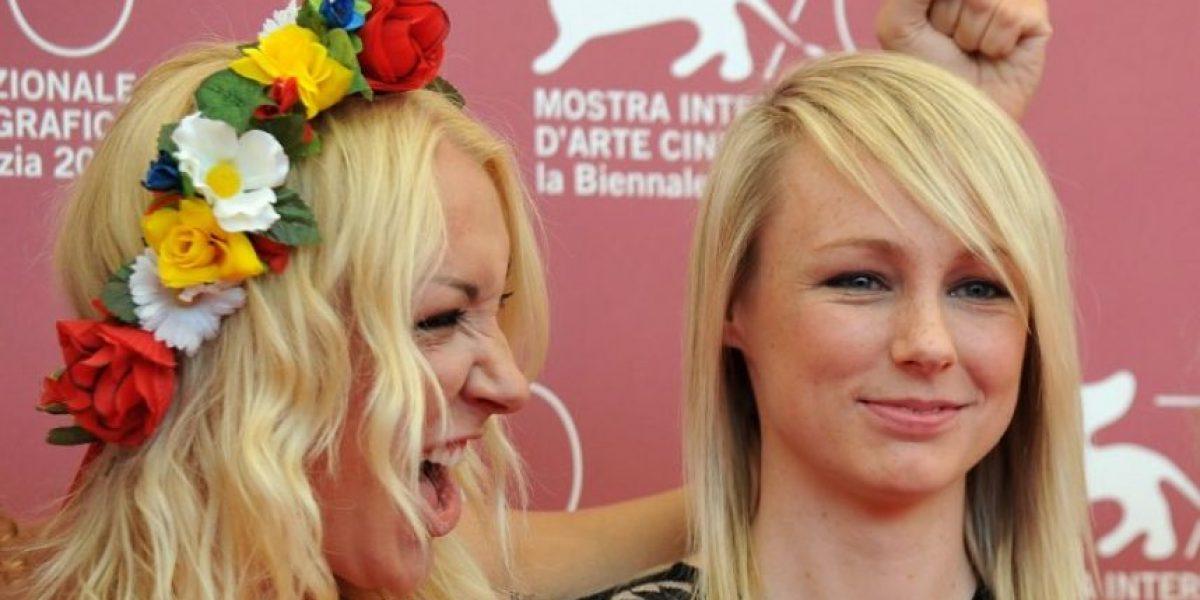 Seis miembros del grupo FEMEN se desnudan en el Festival de Venecia