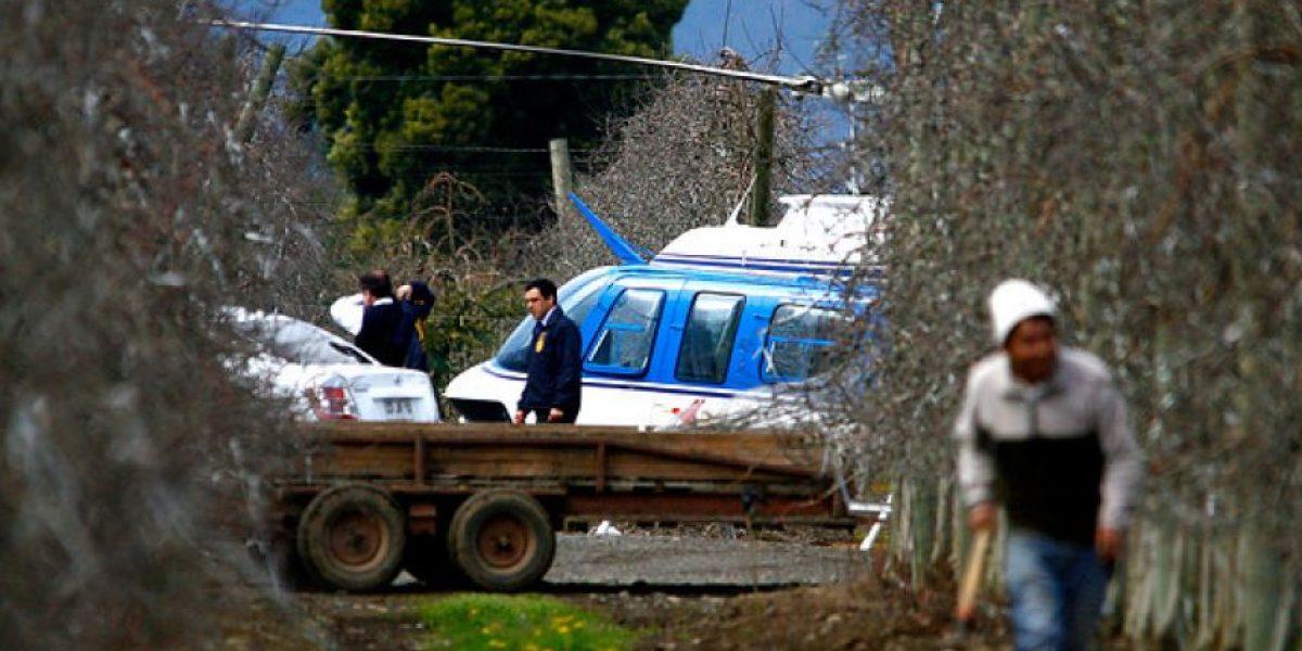FOTOS: Así fue el hallazgo del helicóptero robado en San Felipe