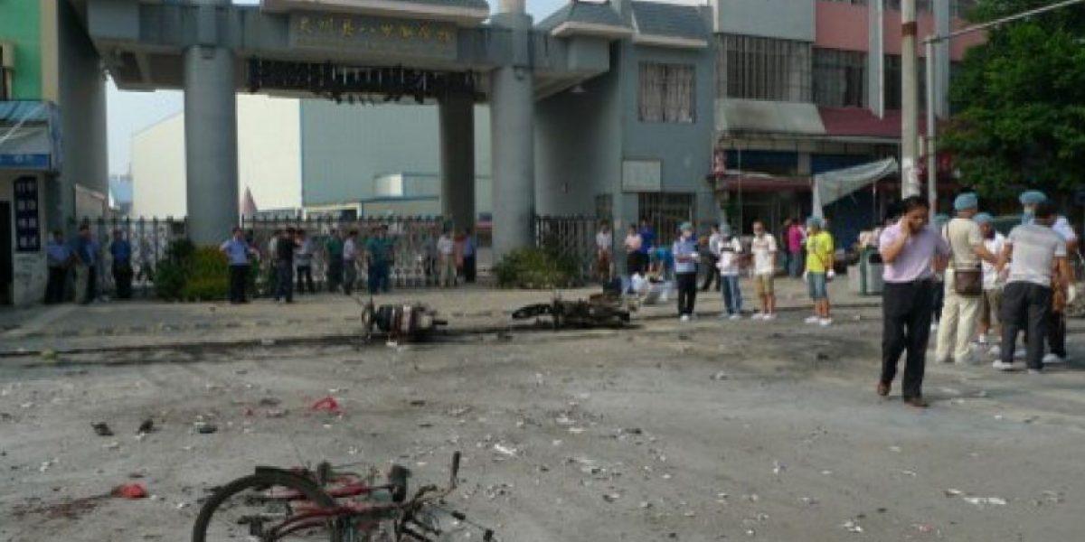 FOTOS: Explosión en una escuela de China deja dos muertos y 34 heridos