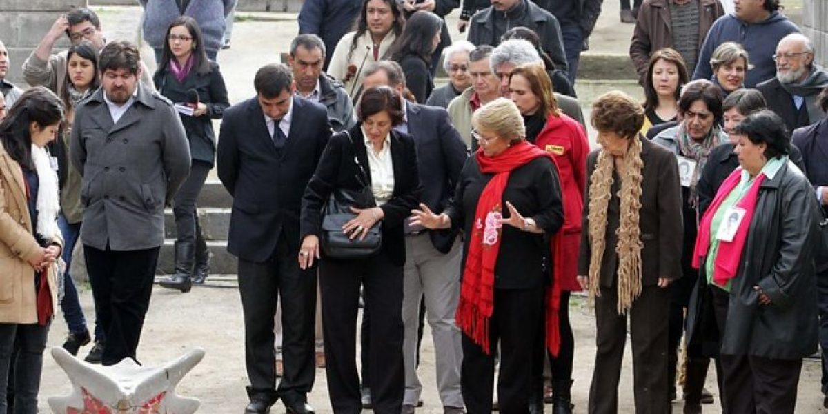 FOTOS: Entre lágrimas Bachelet participa de acto en Villa Grimaldi