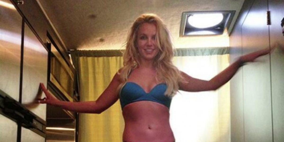 Britney Spears luce su figura en Twitter