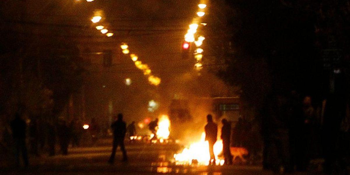 [FOTOS] Barricadas en La Florida en sector donde quemaron un Transantiago