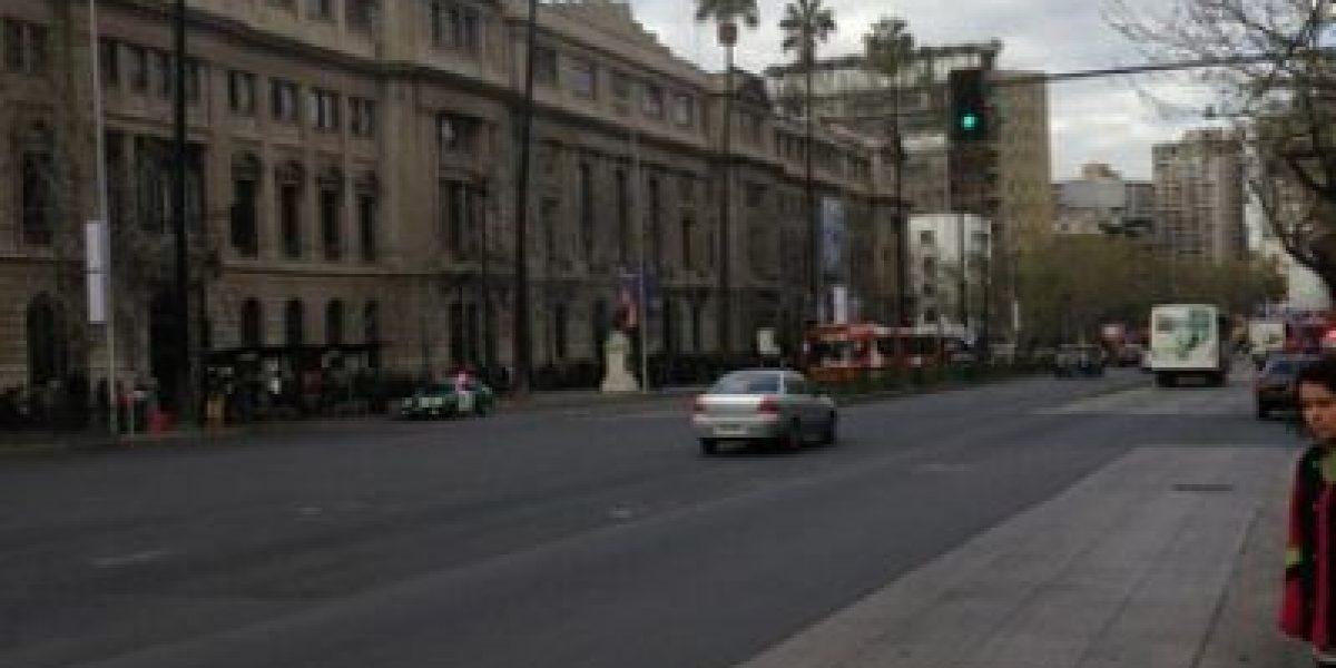 FOTOS: Alumnos del Instituto Nacional marchan por la Alameda