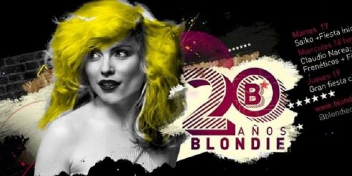 Blondie celebra 20 años en estas fiestas patrias junto a Saiko y Profetas y Frenéticos
