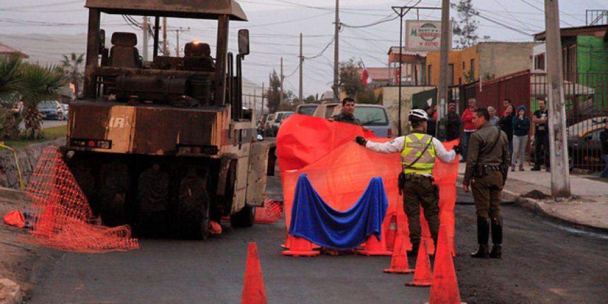 FOTOS: Trabajador muere arrollado por una máquina aplanadora en Iquique