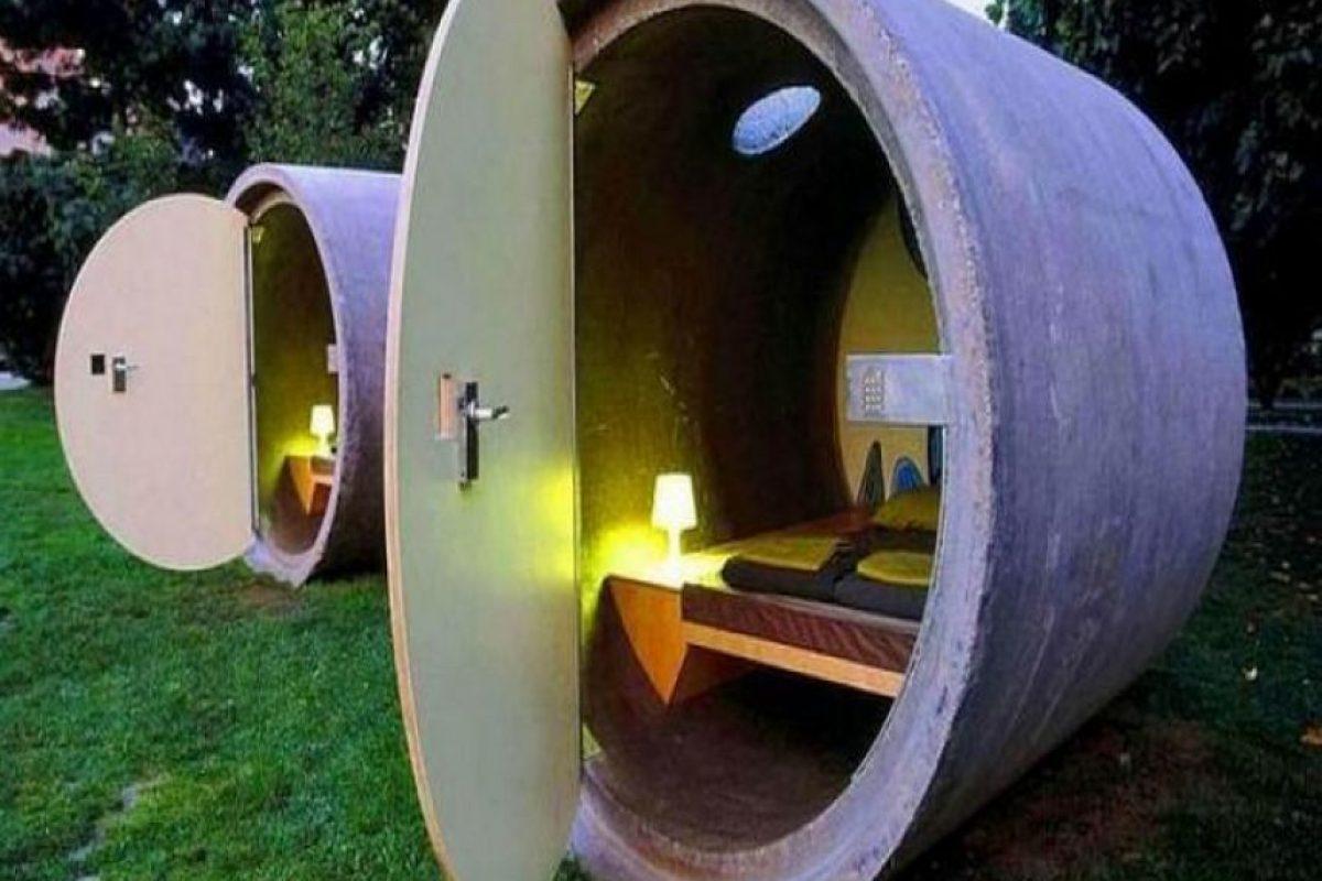 Das Park Hotel en Alemania. Hotel hecho con tuberías de desagüe recicladas. Imagen Por: