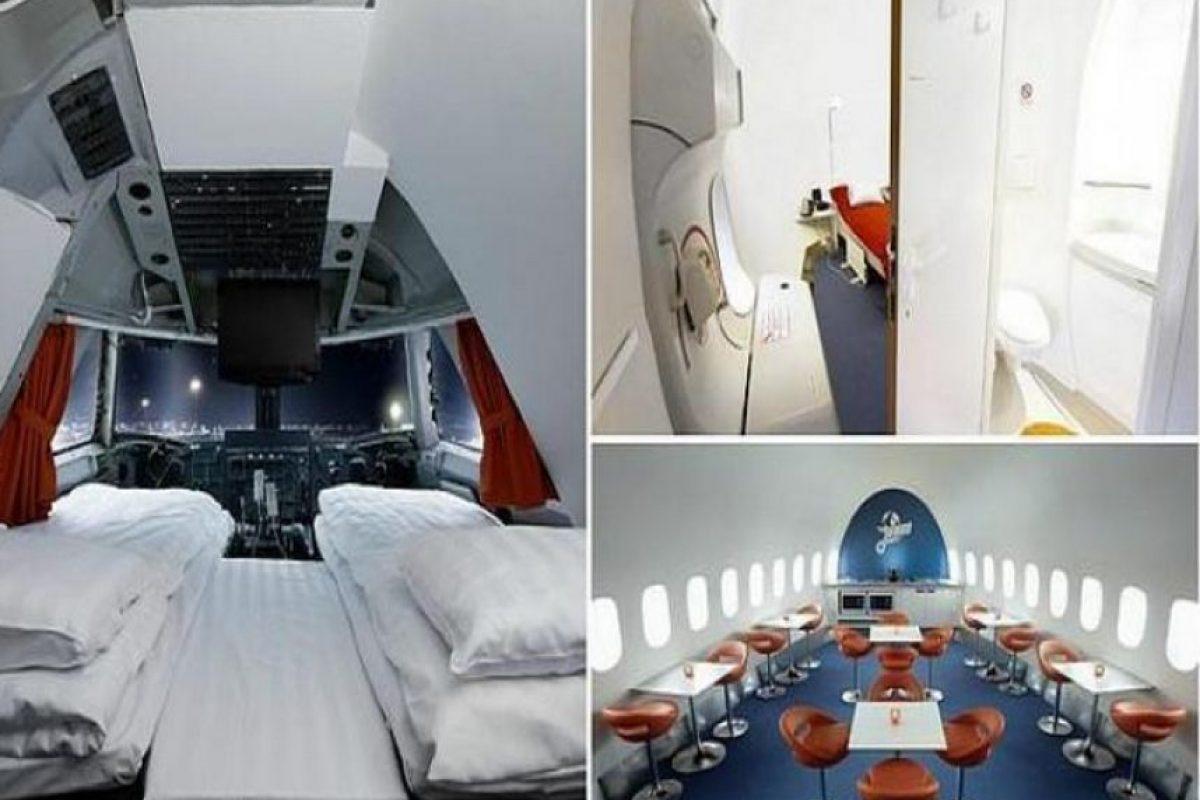 Hotel Arlanda-Jumbo Stay en Suecia. Alojamiento único dentro de un jet jumbo. Imagen Por: