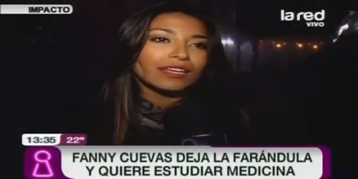 Decisión de Fanny Cuevas de estudiar medicina generó burlas en Twitter
