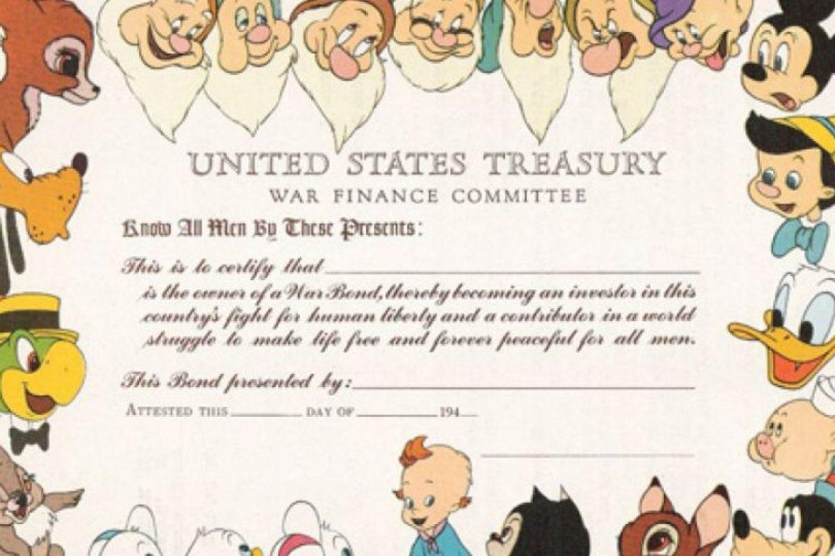 Disney también vendía, de esta manera, bonos de guerra en los años 40.. Imagen Por: