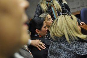 Ex esposa de Enrique Orellana, Yamilé Caba, tras conocer la resolución del juez. Imagen Por: